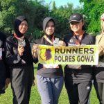 Lima Polwan Gowa Ikut Event Jingga Run 2019